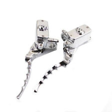 1'' Chrome Skull Hydraulic Hand Control Reservoir Brake Clutch Levers Motorcycle