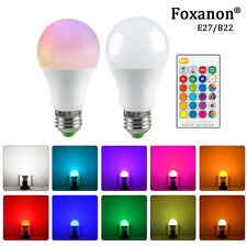 5W/10W/15W LED RGBW RGB Globe Lamp Colour Changing Light Bulb E27 B22 +IR Remote