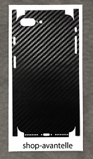 Apple iPhone 7 Plus / iPhone 8 Plus Full Body Decal Skin - Black Carbon Fiber