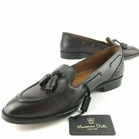 $140 Zara Women's 5 EUR 35 MASSIMO DUTTI Tassel Loafer Slip On Burgundy Oxblood