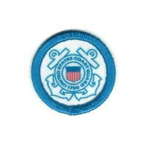 """1 1/2 """" Militaire Seal Of The US Coast Guard à Repasser Patch à Coudre"""
