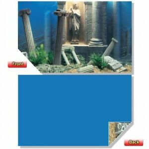 49cm X 1M  AD385 2-SIDED AQUARIUM BACKGROUND POSTER RUINS & BLUE - BUY by METRE