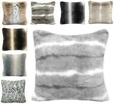 Faux Fur Sofa Scatter Cushion Covers Large Super Soft Arctic Cosy Cuddly Feel