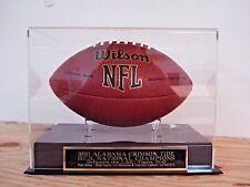 Football Case For Your 2011 Alabama Crimson Tide Champions Signed Football