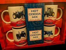 Ford Tractor Mugs, Cocoa Mix(expired) New in Box 5000, 7000, 9600, 8730 Licensed