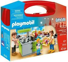 Playmobil Family Kitchen Carry Case Pretend Play with Toy Figures