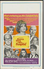 BUONA SERA MRS. CAMPBELL original 1969 ROLLED movie poster GINA LOLLOBRIGIDA