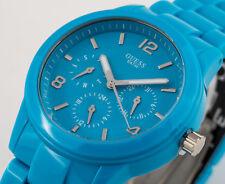GUESS Multifunktionsuhr Uhr Tag Datum Damenuhr Armbanduhr blau NEU W11603L5 G2