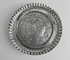 Ornate Footed Card Tray or Salver Dutch Export Mark 2nd Standard Lion For Silver
