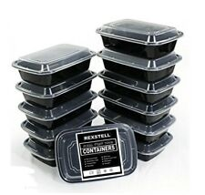 Rexstell 10 Pack 1 Compartment Meal Prep Container Food Storage BPA Free