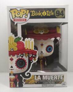 Funko POP #94 Book of Life La Muerte Figure, Used, Box Damage Rare Free Post