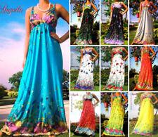 Full Length Floral Sleeveless Maternity Dresses