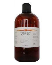 32oz (2x16oz)  Vitamin C (L-Ascorbic Acid) 25%  Hyaluronic Acid Anti Aging Serum