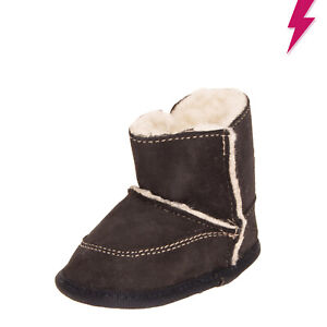 CHICCO Suede Leather Ankle Boots EU 17 UK 1 US 2 Sherpa Lining Embroidered Logo