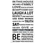Family House Rules stickers wall Decal Removable Art Vinyl Decor Home Kids TN2F