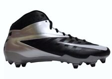 $100 NEW NIKE NFL Vapor Pro Mid D Football Cleats Shoes Black Silver US 11.5