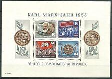 DDR Block 9 A YI (Karl Marx) postfrisch