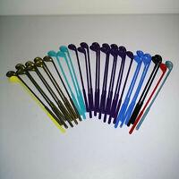 Lot of 32 Vintage Swizzle Sticks Bar Golf Club Gold Aqua Purple Blue Red