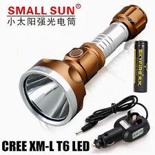 Small Sun CREE XML T6 LED 2000 Lumen Rechargeable LED Flashlight Torch T23