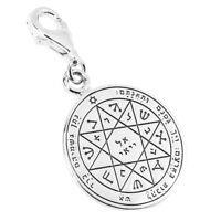 Guarding and Protection Seal Pentacle King Solomon Pendant Amulet Silver Ø 0.6'