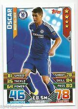 2015 / 2016 EPL Match Attax Base Card (67) Oscar Chelsea