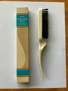 """Avon 8-1/2"""" Slenderline Hair Brush For Styling & Teasing ~ New Unused Vintage"""