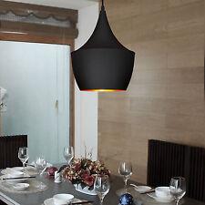 Pendant Light Retro Vintage Tom Dixon Design Black Ceiling Loft Fixture US Stock