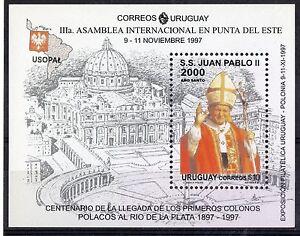 Pope John Paul II Holy year Vatican michelangelo meet. polish in URUGUAY Sc#1692