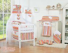 Lettino bimbo/culla neonato materasso incluso+ Set coord 6 pezzi +Set passeggino