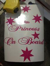 Aussie Princess On Board Southern Cross Vinyl Decal Sticker Hot Pink Or Purple
