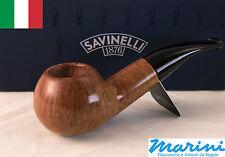 Pipa Pipe pfeife Savinelli radica grezza cerata lucida 320 KS filtro 9mm 6mm