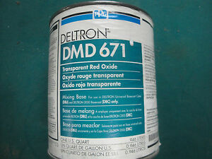 DMD 671 TRANSPARENT RED OXIDE PPG DELTRON 2000 UNIVERSAL MIXING BASE DBU DBC