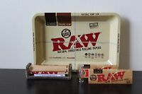 Raw Rolling Tray Combo+Raw 79mm Roller+Raw 1 1/4 Size Rolling Papers+Roor Tip
