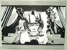 Lienzo Star Wars Episodio 7 Remolque X piloto B&W Arte 16x12 pulgada de acrílico