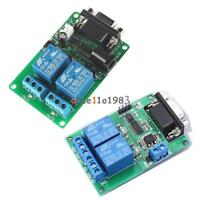 2 Channel Serial Port RS232 Relay Module DC 5V 12V DB9 Interface PC Relay