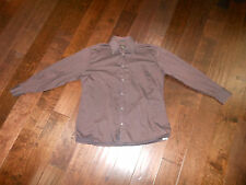 Preowned UOMO COUTURE VITO RIFOLO L/S Dress Casual Polo Shirt Size 15-15 Brown
