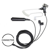 3-Wire Acoustic Tube Headset Palm PTT / Mic for Motorola EF Johnson 2-Way Radios