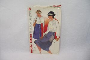 Ancien PATRON MARIE CLAIRE 60/70's JUPE n°726 Taille 40-42-44 Elégance Paris
