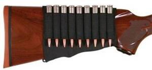 Allen Rifle Cartridge Buttstock Holder Elastic Loops Fits Snug 9 Cartridges
