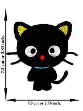 Black Cat Animal Pet Kitten Cartoon Crafts Applique Iron on Patch Sew DIY