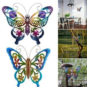 3D Butterfly Wall Art Hanging Metal Ornament Outdoor Garden Adornment Home Decor