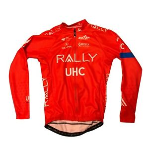 Men's 2019 Borah Rally UHC Pro Cycling LS Jersey, Orange, Size Small EUC