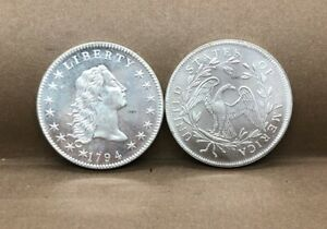 USA Coin 1794 Liberty Flowing Hair One Dollar Silver Plated Coin Fast shipping