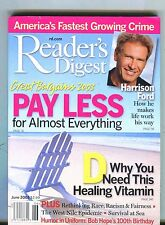 Reader's Digest Magazine June 2003 Harrison Ford EX No ML 051817nonjhe2