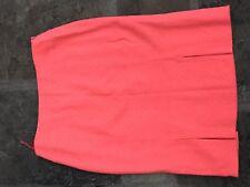 Coral ESCADA Skirt Suit Bouclé Longline Jacket Lined 14/16/18