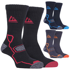 Storm Bloc - 2 Pairs Mens Thick Cushioned Outdoor Hiking Bamboo Boot Socks