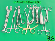 10 Assorted Orthopedic Surgical Instruments Custom Made Setsr 532