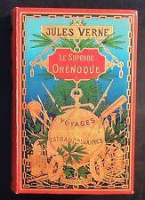 Jules VERNE Le superbe Orénoque. HETZEL 1898. Cartonnage sphère dorée, dos phare