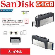 Type C USB 3.1 SanDisk 64GB Dual Flash Drive Stick Thumb PC Mac