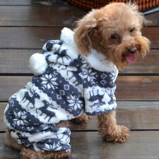 Lovely Pet Dog Winter Warm Jumpsuit Clothes Puppy Cat Hoodie Coat Sweater Gift